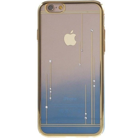 Etui Gold Bumper + PC Back iPhone 6/6S 4.7 - Light Blue / Meteor Shower