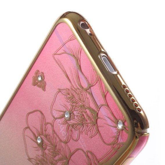 Etui Gold Bumper + PC Back iPhone 6/6S 4.7 - Pink / Flower&Butterfly