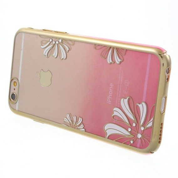 Etui Gold Bumper + PC Back iPhone 6/6S 4.7 - Pink / Lucky Clover