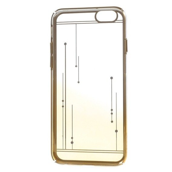 Etui Gold Bumper + PC Back iPhone 6/6S 4.7 - Yellow / Meteor Shower