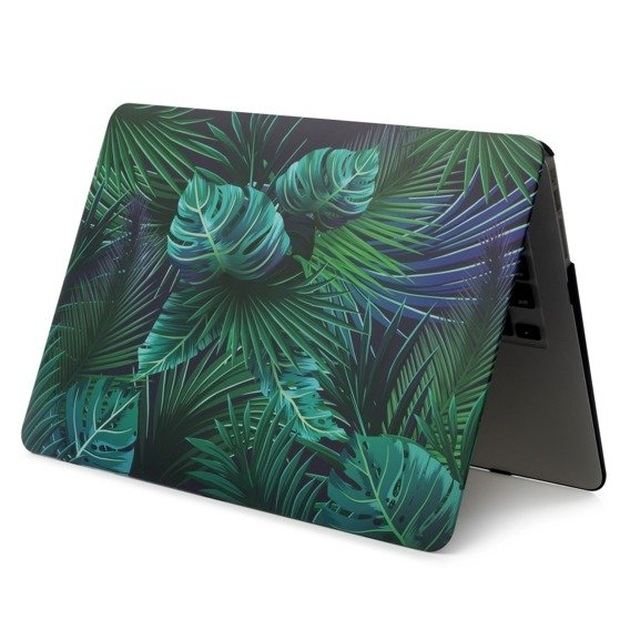 Etui Hard Case do Macbook Air 13.3 A1369/A1466 - Green Leaves