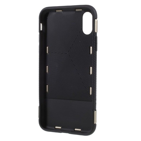 Złote Etui Hybrid Carbon Ring Stand Case Apple iPhone X 5.8