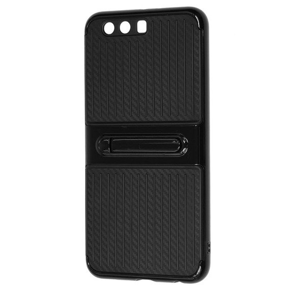 Etui Hybrid Carbon Stand Case Huawei P10 Plus - Black