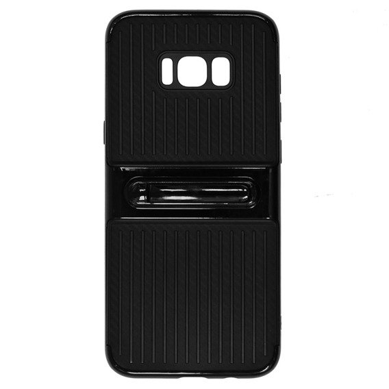 Etui Hybrid Carbon Stand Case Samsung Galaxy S8 Plus - Black