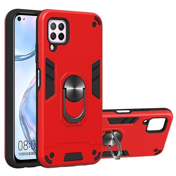 Etui Hybrid KickStand Ring Back Case do Huawei P40 Lite - Red
