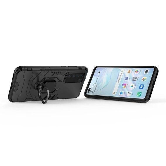 Etui KickStand Ring do Huawei P40 - Black