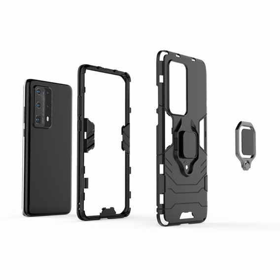 Etui KickStand Ring do Huawei P40 Pro Plus - Black