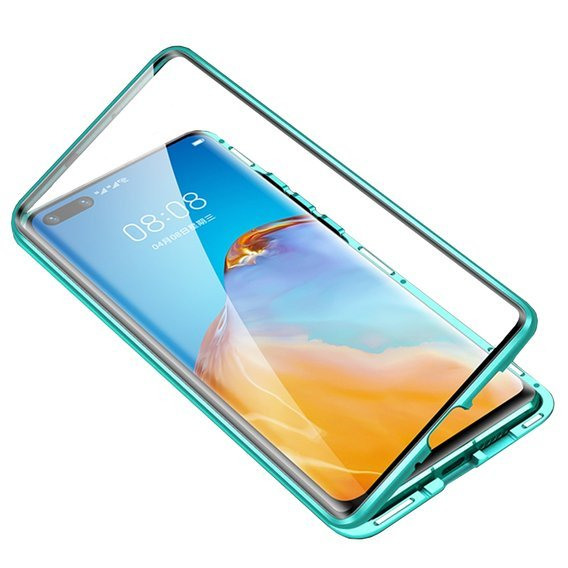 Etui Magnetic Dual Glass do Huawei P40 Pro - Green