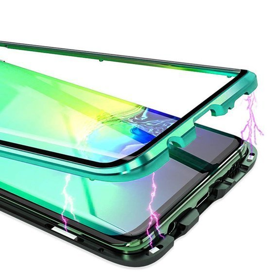 Etui Magnetic Dual Glass do Samsung Galaxy S20 - Green