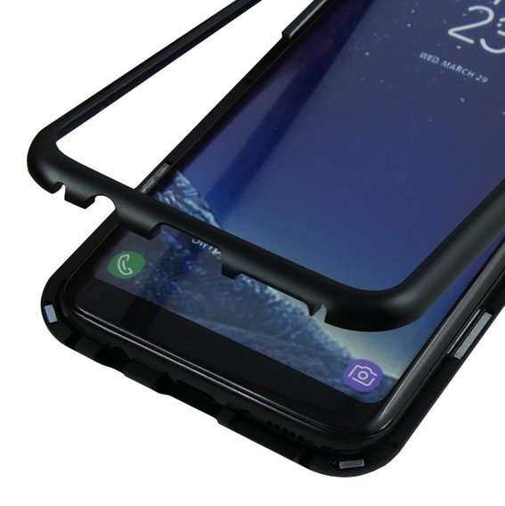 Etui Magnetic back glass do Samsung Galaxy S8+ Plus - Black