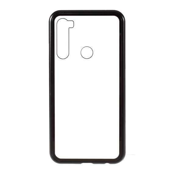 Etui Magnetic back glass do Xiaomi Redmi Note 8 - Black