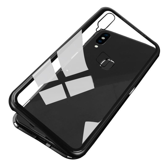 Etui Magnetic back glass do do Huawei Y9 2019 - Black