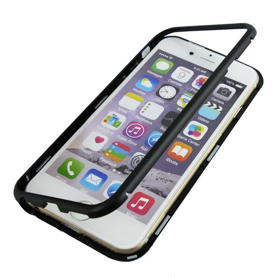 Etui Magnetic back glass do iPhone 6/6S 4.7 - Black