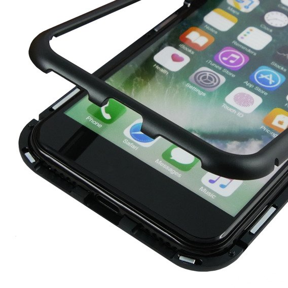 Etui Magnetic back glass do iPhone 8/7 4.7 - Black