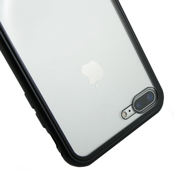 Etui Magnetic back glass do iPhone 8 plus/7 Plus - Black