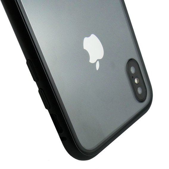 Etui Magnetic back glass do iPhone X/XS - Black