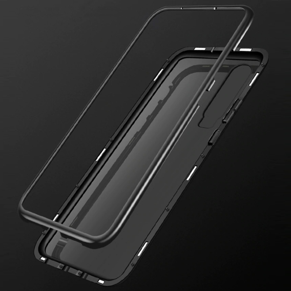 Etui Magnetic dual glass do Huawei P30 Lite - Black