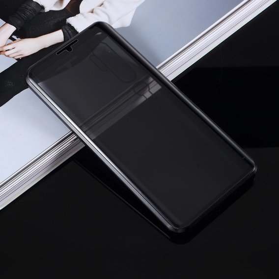 Etui Magnetic dual glass do Xiaomi Mi Note 10 / 10 Pro - antipeep Black