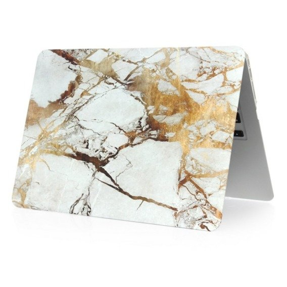 Etui Marble Hard Case do Macbook Air 13 (A1369/A1466) - Gold