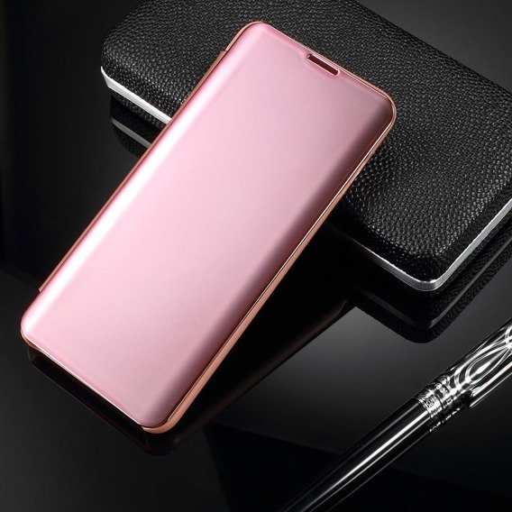 Etui Mirror View Case do Samsung Galaxy S10 Plus - Rose Gold