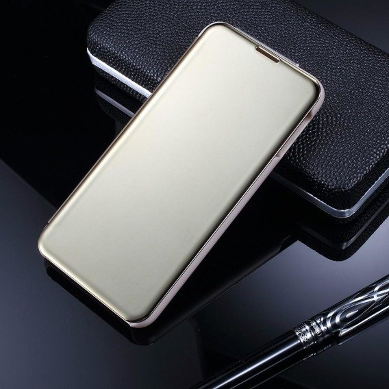 Etui Mirror View Case do Samsung Galaxy S10E - Gold