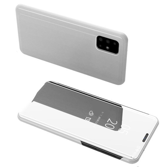 Etui Mirror View do Samsung Galaxy A51 - Silver