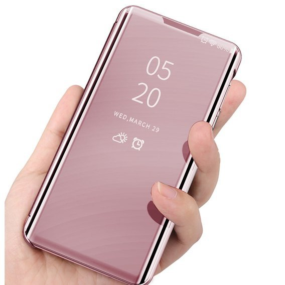 Etui Mirror View do Samsung Galaxy S20 Ultra - Rose Gold