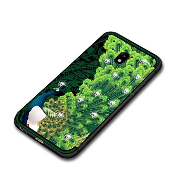 Etui NXE Peacock Diamonds Elements Samsung Galaxy J3 2017 - Green
