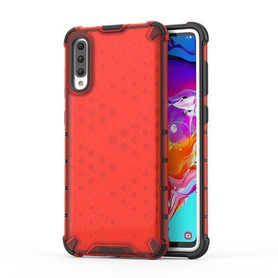 Etui Pancerne Honeycomb Samsung Galaxy A70 - Red