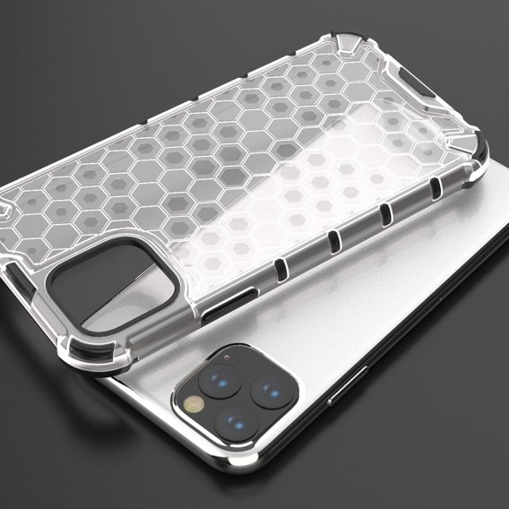 Etui Pancerne Honeycomb iPhone 11 - Clear