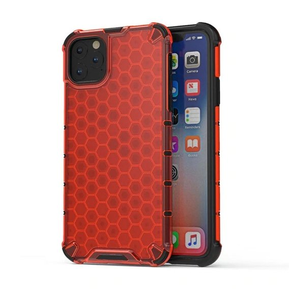 Etui Pancerne Honeycomb iPhone 11 - Red