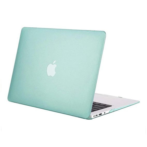 Etui Przód + Tył Hard Case Macbook Air 13.3 - Translucent Mint