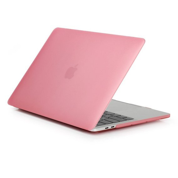 Etui Przód + Tył Hard Case Macbook Air 13.3 - Translucent Pink