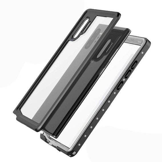 Etui REDPEPPER Waterproof IP68 2M Samsung Galaxy Note 10+ Plus - Clear / Black