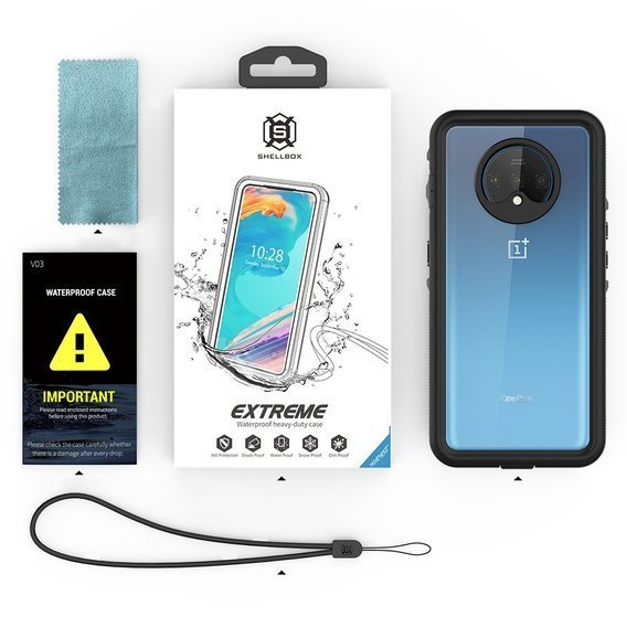 Etui REDPEPPER Wodoodporne IP68 do OnePlus 7T - Clear / Black