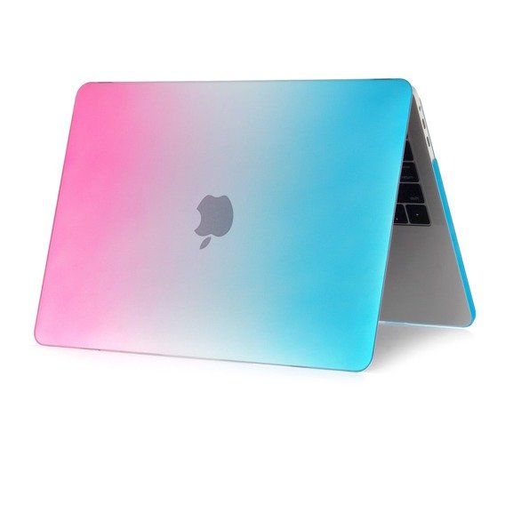 Etui Rainbow Hard Case Macbook Air 13 2018 (A1932) - Blue/Pink