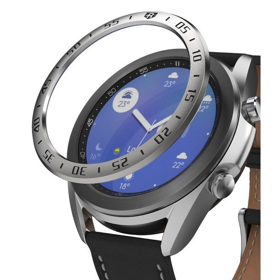 Etui Ringke Bezel Styling do Samsung Galaxy Watch 3 41mm - Steel Silver