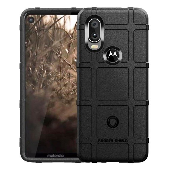 Etui Rugged Shield do Motorola One Vision - Black