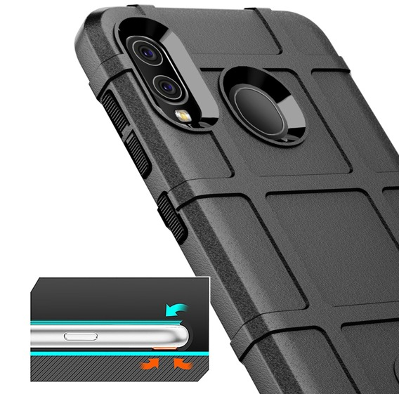Etui Rugged Shield do Samsung Galaxy A20 / A30 - Black