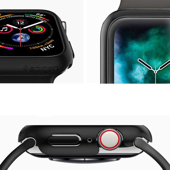 Etui SPIGEN Thin Fit do Apple Watch 4/5 44mm - Black