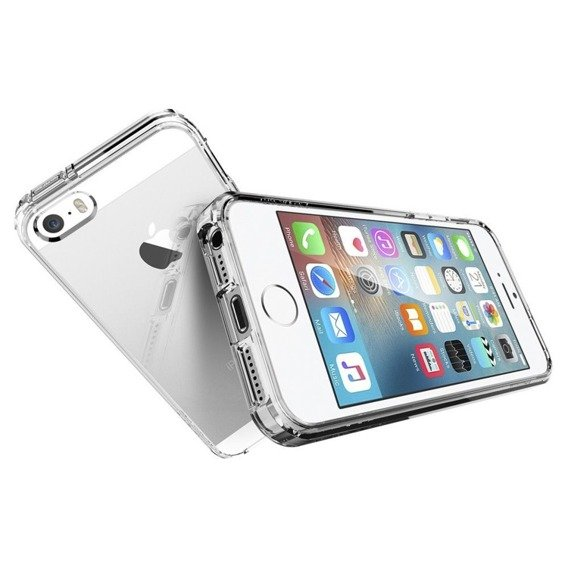 Etui SPIGEN do Apple iPhone 5/5S/SE, Ultra Hybrid, Crystal Clear