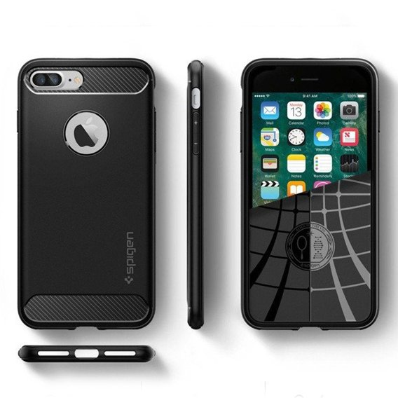 Etui SPIGEN do iPhone 7/8 Plus 5.5, Rugged Armor, Black