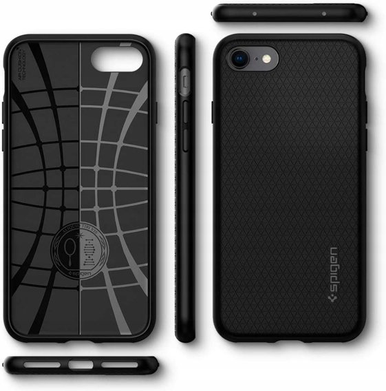 Etui SPIGEN do iPhone SE 2020/8/7, Liquid Air, Black