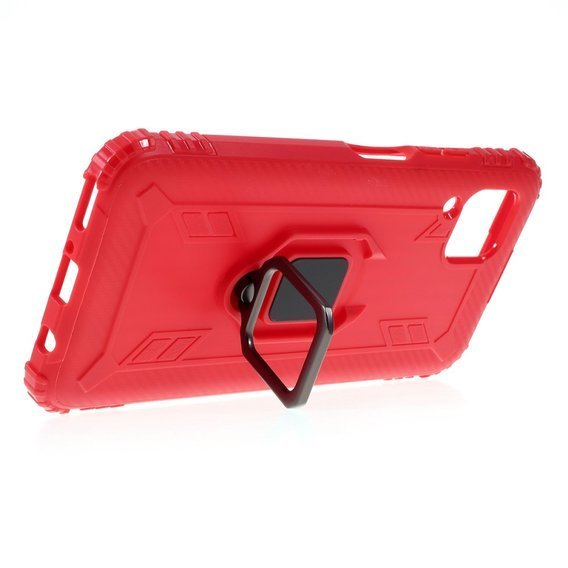 Etui Shockproof Ring do Huawei P40 Lite - Red