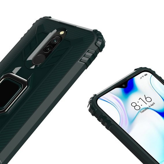 Etui Shockproof Ring do Xiaomi Redmi 8 - Green