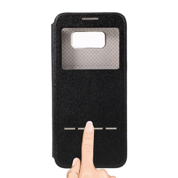 Etui Touch Slide Stand Case Samsung Galaxy S8 - Black