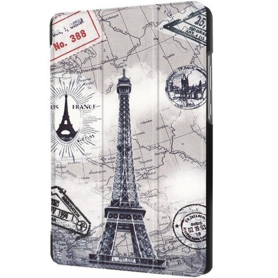 Etui Tri-Fold Stand Cover Huawei MediaPad T3 7.0 - Eiffel Tower and Map