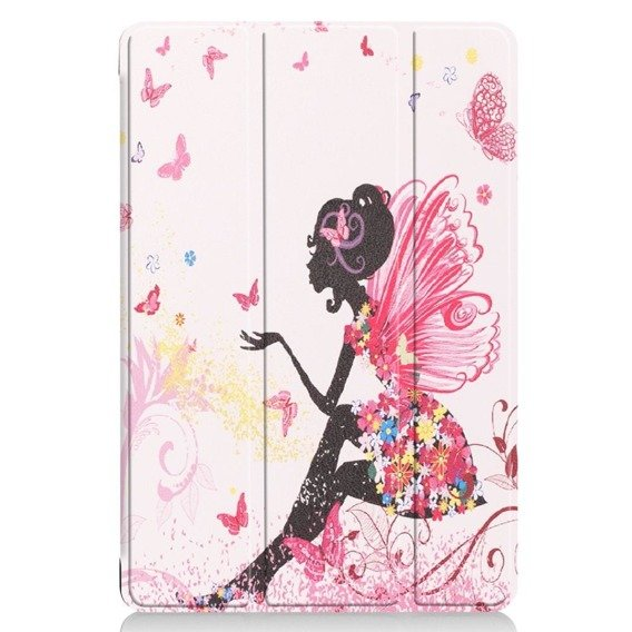 Etui TriFold Case do Huawei MediaPad M5 Lite 10 - Colorful Butterfly Girl