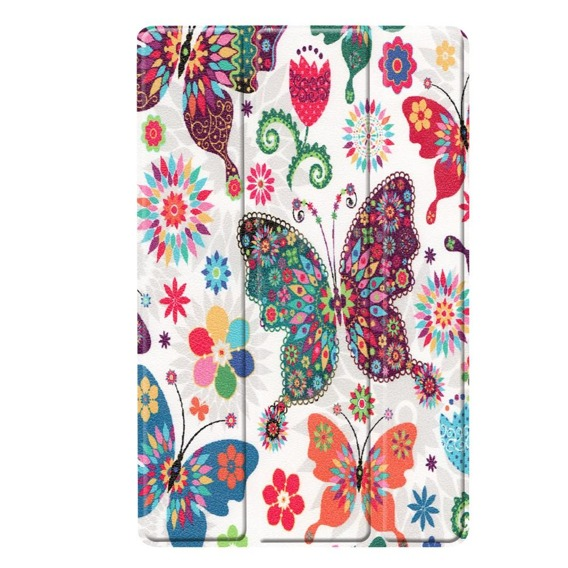 Etui TriFold Case do Samsung Galaxy Tab A 10.1 2019 SM-T515 - Butterfly Flowers