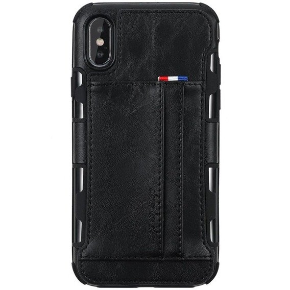 Etui Two Cards Hybrid Case iPhone XS Max 6.5 - Black